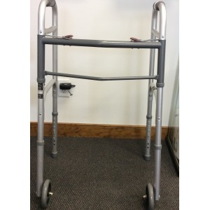 Roscoe Medical Supply Dual Release Walker with Wheels